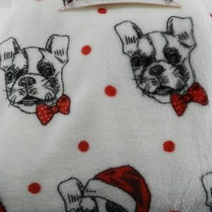 New Christmas Plush Throw French Bulldog